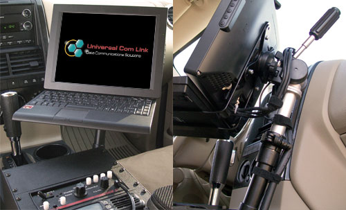 Computer mounted in Ford Explorer Police vehicle